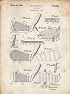 Golf Club Patent - Vintage Parchment