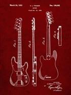 Guitar Patent - Burgundy