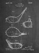 Metallic Golf Club Head Patent - Chalkboard