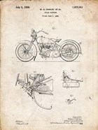 Cycle Support Patent - Vintage Parchment