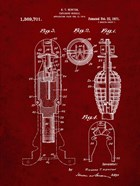 Explosive Missile Patent - Burgundy
