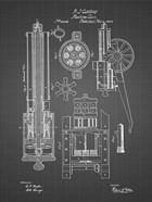 Machine Gun Patent - Black Grid