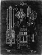 Machine Gun Patent - Black Grunge