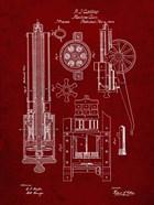 Machine Gun Patent - Burgundy