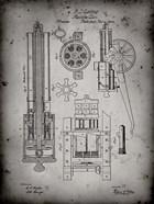 Machine Gun Patent - Faded Grey