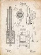 Machine Gun Patent - Vintage Parchment