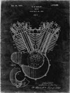 Engine Patent - Black Grunge