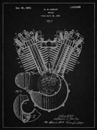 Engine Patent - Vintage Black