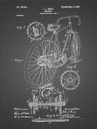 Bicycle Patent - Black Grid