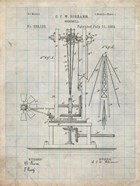 Windmill Patent - Antique Grid Parchment