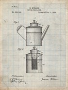 Coffee Percolator Patent - Antique Grid Parchment