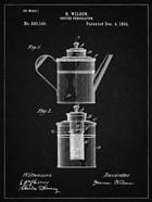 Coffee Percolator Patent - Vintage Black