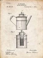 Coffee Percolator Patent - Vintage Parchment