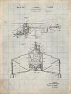Direct-Lift Aircraft Patent - Antique Grid Parchment