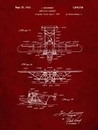 Amphibian Aircraft Patent - Burgundy