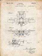 Amphibian Aircraft Patent - Vintage Parchment