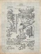 Diver's Suit Patent - Antique Grid Parchment