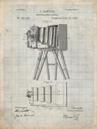 Photographic Camera Patent - Antique Grid Parchment