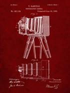 Photographic Camera Patent - Burgundy