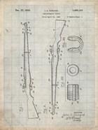 Semi-Automatic Rifle Patent - Antique Grid Parchment