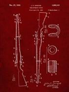 Semi-Automatic Rifle Patent - Burgundy