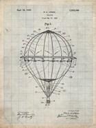 Balloon Patent - Antique Grid Parchment