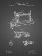 Sewing Machine Patent - Black Grid