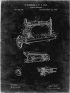 Sewing Machine Patent - Black Grunge