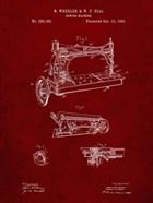 Sewing Machine Patent - Burgundy