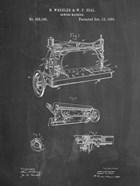 Sewing Machine Patent - Chalkboard
