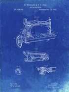 Sewing Machine Patent - Faded Blueprint
