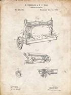 Sewing Machine Patent - Vintage Parchment