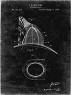 Fireman's Hat Patent - Black Grunge