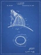 Fireman's Hat Patent - Blueprint