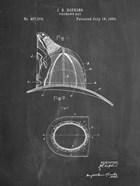 Fireman's Hat Patent - Chalkboard