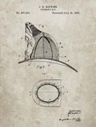 Fireman's Hat Patent - Sandstone