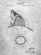 Fireman's Hat Patent - Slate