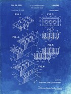 Toy Building Brick Patent - Faded Blueprint