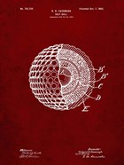 Golf Ball Patent - Burgundy