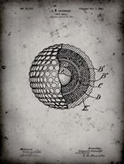 Golf Ball Patent - Faded Grey