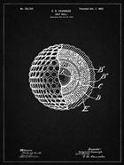 Golf Ball Patent - Vintage Black