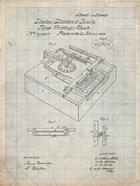 Type Writing Machine Patent - Antique Grid Parchment