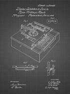 Type Writing Machine Patent - Black Grid