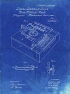 Type Writing Machine Patent - Faded Blueprint
