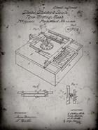 Type Writing Machine Patent - Faded Grey