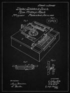 Type Writing Machine Patent - Vintage Black