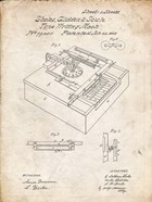 Type Writing Machine Patent - Vintage Parchment