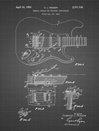 Tremolo Device for Stringed Instruments Patent - Black Grid