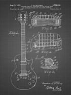 Guitar & Combined Bridge & Tailpiece Therefor Patent - Black Grid