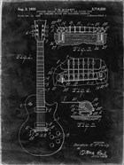 Guitar & Combined Bridge & Tailpiece Therefor Patent - Black Grunge